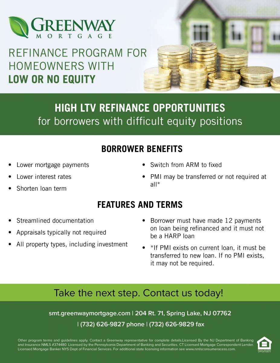 High LTV Refinance Opportunities